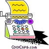Colorful typewriter Vector Clipart picture