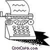 Vector Clipart graphic  of a Typewriter