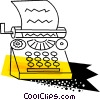 Colorful typewriter Vector Clipart illustration