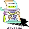 Vector Clip Art image  of a Colorful typewriter