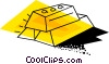 Vector Clipart image  of a Stacked gold bars