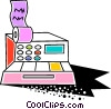 Colorful cash register Vector Clipart graphic