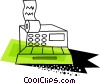 Colorful cash register Vector Clip Art image