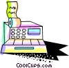 Vector Clip Art picture  of a Colorful cash register