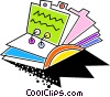 Colorful rolodex Vector Clipart graphic