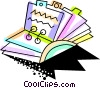 Vector Clip Art picture  of a Colorful rolodex