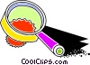 Vector Clipart picture  of a Colorful magnifying glass