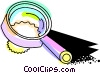 Vector Clipart illustration  of a Colorful magnifying glass