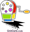 Vector Clipart image  of a Colorful pencil sharpener