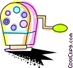Vector Clip Art image  of a Colorful pencil sharpener