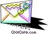 Vector Clipart picture  of a Colorful letter