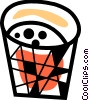 Vector Clipart graphic  of a Waste paper basket