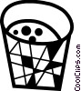 Vector Clip Art image  of a Waste paper basket
