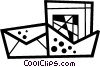 Vector Clipart picture  of a Out going mail