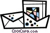 Vector Clipart illustration  of a Out going mail