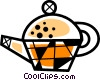 Vector Clip Art graphic  of a Tea kettle