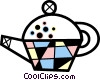 Tea kettle Vector Clipart graphic