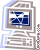 Computer workstation Vector Clipart picture