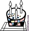 Birthday cake Vector Clipart image