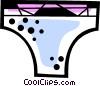 Bikini underwear Vector Clipart illustration