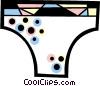 Vector Clipart graphic  of a Bikini underwear