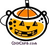 Vector Clipart graphic  of a Trick or treat Jack-o-Lantern