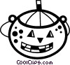 Trick or treat Jack-o-Lantern Vector Clipart illustration