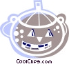 Vector Clip Art image  of a Trick or treat Jack-o-Lantern