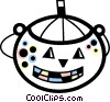 Vector Clipart illustration  of a Trick or treat Jack-o-Lantern