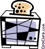 Vector Clipart illustration  of a Toaster with bread