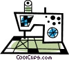 Vector Clip Art image  of a Electric sewing machine