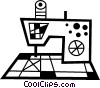 Vector Clipart image  of a Electric sewing machine