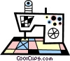 Electric sewing machine Vector Clipart picture