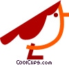 Red belly bird Vector Clipart illustration