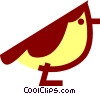 Vector Clip Art image  of a Red belly bird