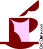 Vector Clipart graphic  of a Cup of hot chocolate