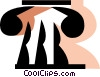Greek column Vector Clip Art picture