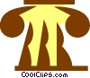 Vector Clip Art image  of a Greek column