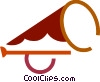 Vector Clip Art graphic  of a Bullhorn