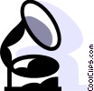 Antique gramophone Vector Clipart graphic