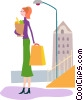 Vector Clip Art picture  of a Miscellaneous Grocery Store Items