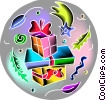 Vector Clip Art graphic  of a Birthday presents