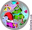 Christmas Trees Vector Clipart image