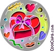 Box of valentines day chocolates Vector Clipart image