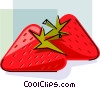 Two Strawberries Vector Clip Art picture