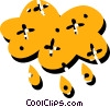 Vector Clipart image  of a Rain clouds