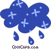 Vector Clipart graphic  of a Rain clouds