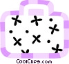 Vector Clip Art graphic  of a Suitcase