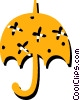 Vector Clip Art graphic  of a Open umbrella