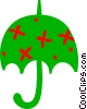 Vector Clipart picture  of a Open umbrella